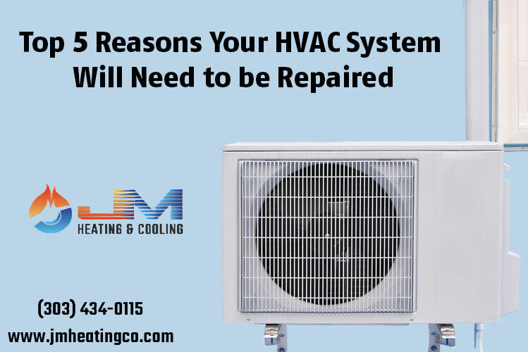 Top 5 Reasons Your HVAC System Will Need to be Repaired